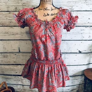 Ralph Lauren Paisley Red & Blue Tunic